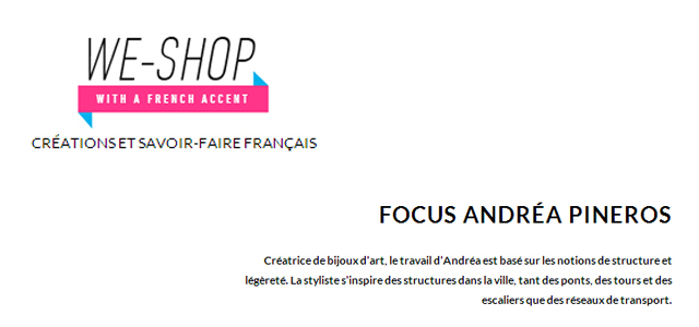 Interview sur WE-SHOP