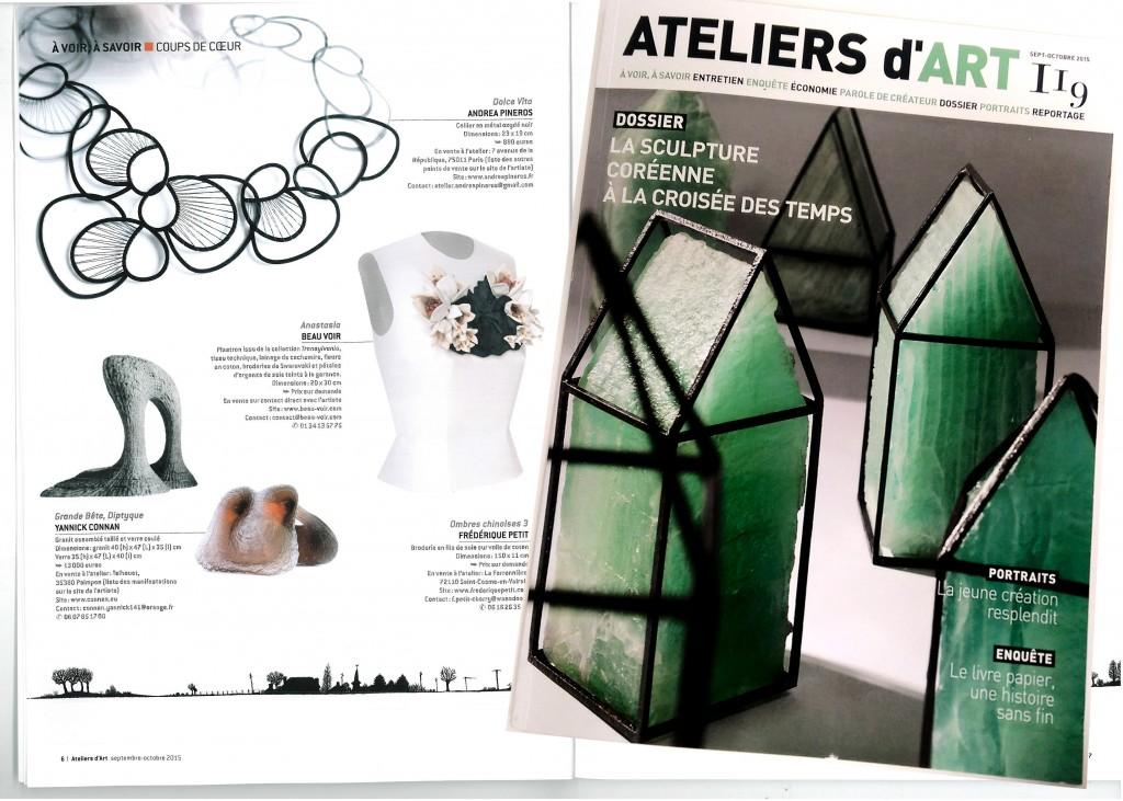 Dans les coups de coeur magasin ateliers d art de france andrea pi eros bijoux - Ateliers d arts de france ...