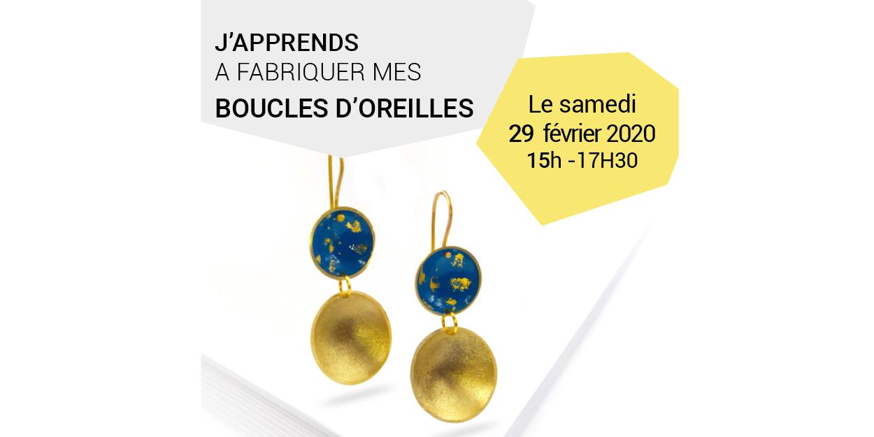 ATELIER FABRICATION DE BOUCLES D'OREILLES
