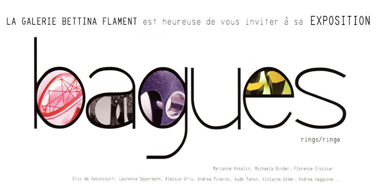 Expositions Bagues à la Galerie Bettina Flament